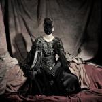 Photography Leonardo V, Amen Couture, Swarovski Mask Hand Made by Leonardo V, Shoes by Caovilla