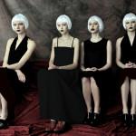 Photography Leonardo V, from left Black Dress by Tom Rebl, in the middle Black Dress by Roberto Musso, right Black Dress by Tom Rebl, Shoes all Pura Lopez