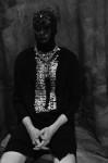 Photography Leonardo V, Black sweather by  Tom Rebl ,  Pailletes shirt by Junya Watanabe,chaine by Stefano De Lellis, Mask  swarovski  pieces handmade by Leonardo V