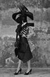 Photography Leonardo V, handmade hat by Leonardo V, black&white dress vintage 50's by Ceil Chapman