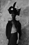 Photography Leonardo V, Walter Van Beirendonck  total look, hat piece handmade by Leonardo V