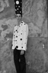 Photography Leonardo V, Photography Leonardo V, Jacket by Kenzo, white T shirt by Moncler, Black Pants by Fendi