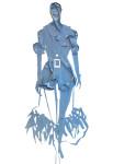 """Feather Dress""; Illustration Carlos Aponte"