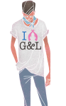G&L T-Shirt; Illustration Carlos Aponte
