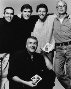 FROM LEFT ALEX GONZALEZ, GIANNI MORANDI,FABIO RUSSO,GIANPAOLO BARBIERI,MARCO REATI