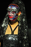 Swarovski Mask handmade by Leonardo V; Earings by Giammaria Buccellati; Chador and Top by Leonardo V; Photography Leonardo V