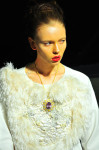 White Dress with embroideries by Yueh Tsou, Necklace by Gianmaria Buccellati; Photography Leonardo V