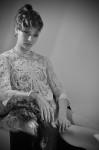 White  lace top by Moscova libri e robe,  Jewelry by Buccellati; Photography Leonardo Vecchiarelli