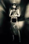couture dress by A family Affair, hand-bag and shoes by Giuseppe Zanotti Design; Photography Leonardo V