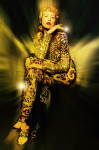 Embroidery golden shirt and Pants by Parosh, accessories handmade Fenix archive