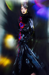 Velvet Haute couture dress by Filippo Laterza, accessories by fenix archive; Photography Leonardo V