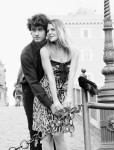 for him pants by Levis, for he Dolce & Gabbana dress vintage; Hair & Make Up Sofia Pollifrone; Photography Leonardo V