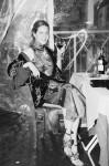 Couture dress by a Family Affair, embroedery cape by Parosh, shoes by Giuseppe Zanotti Design; Hair & Make Up Sofia Pollifrone;  Photography Leonardo V